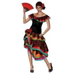 Een prachtige grote decoratie van een Mexicaanse senorita. Lengte: 95cm. themafeesten mexicaans
