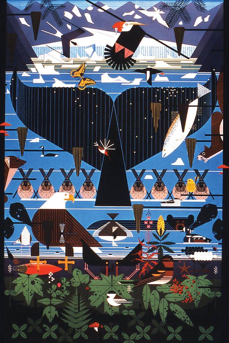 Atractivo Dibujos De Charley Harper Inspiración - Dibujos Para ...