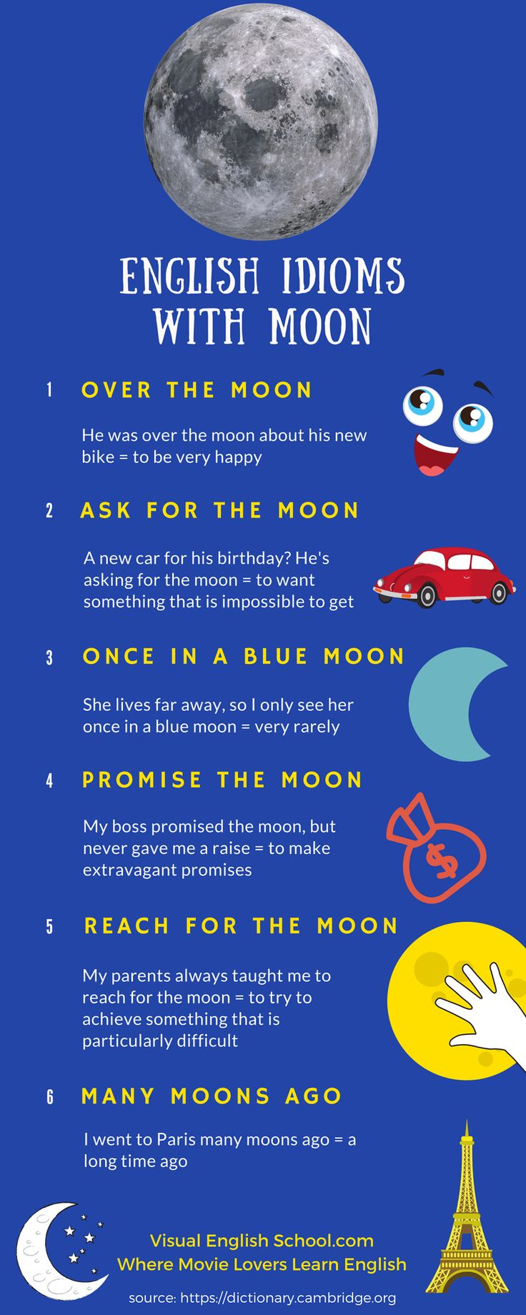 Learn English with the poetic short film A New View of the Moon, Click through to see your English movie lesson, English idioms with moon, #english, #englishidioms, #shortfilms, #englishwithmovies, #englishvocabulary