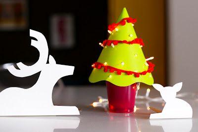 Estéfi Machado: mini-árvore de natal de papel