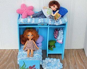 "LoveSale14% handgemaakte modulair meubilair ""Kinderkamer"" hanteert voor poppen 9-12 cm (RealPuki, PukiPuki, Lati wit SP, enz.) / BJD meubels / BJD R"