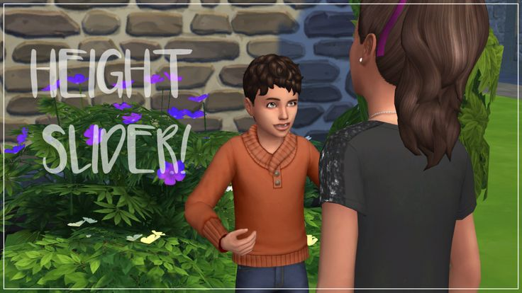HEIGHT SLIDER IN THE SIMS 4!so there's now a fully working height slider in the sims 4, for all ages! you no longer have to sacrifice the size of you sims feet to make them taller or shorter, it's...