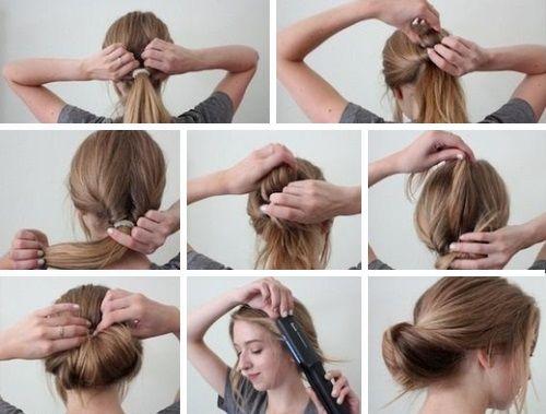 Прически каждодневные на средние волосы