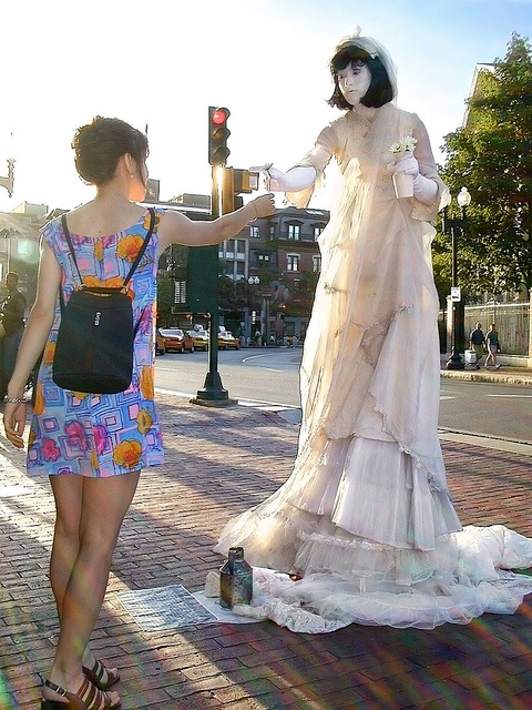 Amanda Palmer, the 8 Foot Bride of Harvard Square - Remastered by andyi, via Flickr