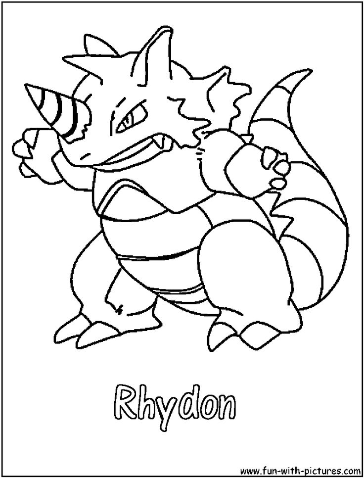Rhydon Coloring Page Cute Coloring Pages Pokemon Coloring Pages Coloring Pages