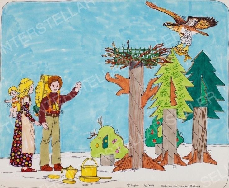 Rare!! ORIGINAL 1975 SUNSHINE FAMILY DOLL BACKPACKING SET CONCEPT ART! Vintage