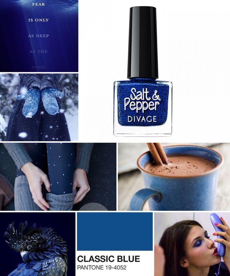 Pantone 19-4052 Classic Blue è la variante più elegante e chic del blu. Un outfit di questo colore è ideale per una serata speciale. Come ultimo tocco, abbinateci lo smalto Salt & Pepper per regalare un pizzico di stravaganza al vostro look. #coloroftheweek