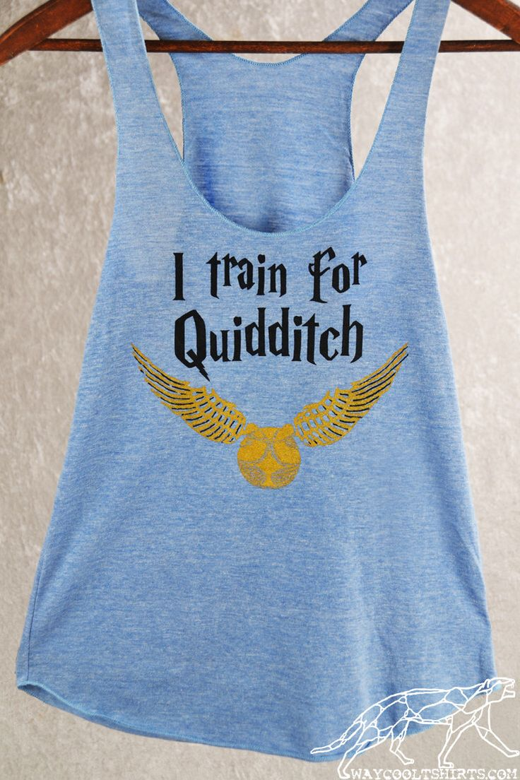 QUIDDITCH RACERBACK WORKOUT Tank Top. Harry Potter Women's Exercise Racerback in xS thru xL Sizes. In Blue or Espresso by waycooltshirts on Etsy https://www.etsy.com/listing/209646220/quidditch-racerback-workout-tank-top