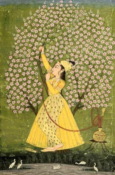 Lady Under a Tree, Bikaner (1760)