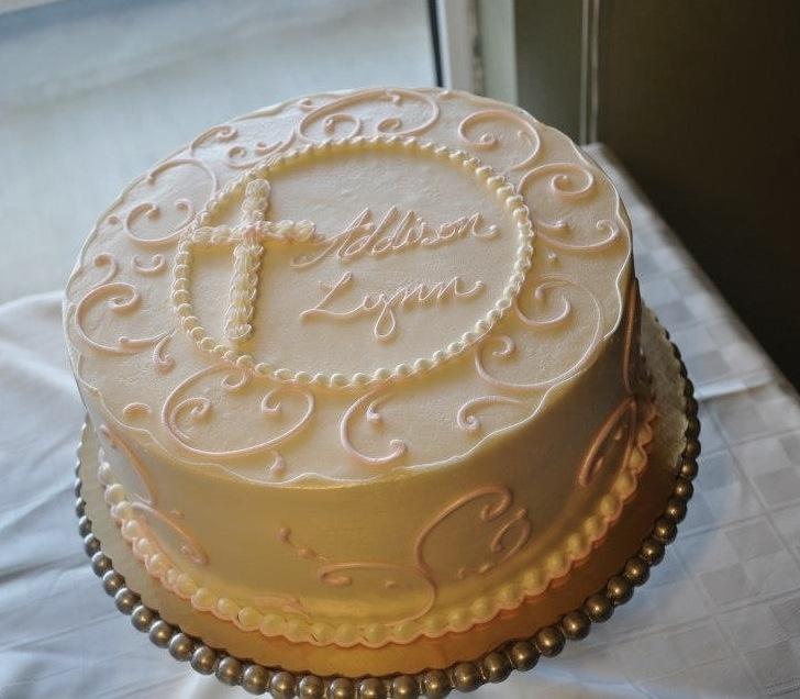 Addison's Gorgeous Baptism cake