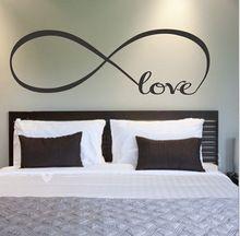 Grátis frete grande símbolo da infinidade decalque amor Decor cotações da parede do vinil Stickersadesivo de parede(China (Mainland))