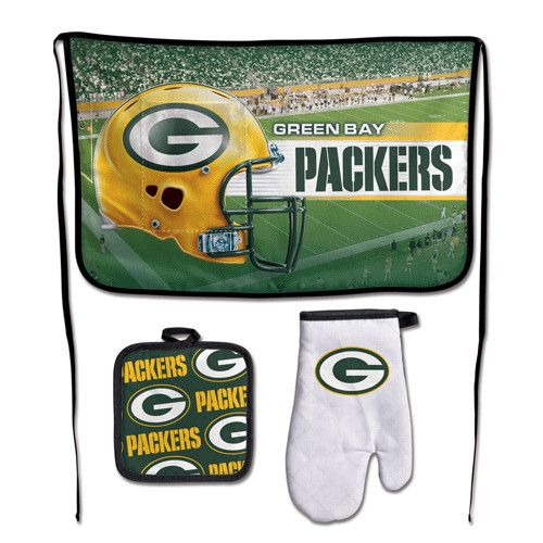 Green Bay Packers NFL Premium 3-Piece Barbeque Tailgate Set