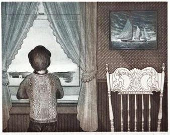 The Flora S. Nickerson coming home from the Labrador By David Blackwood ,1979