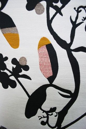 Detail of Eden showing colour-blocking within the leaf forms. Designer Hella Jongerius.