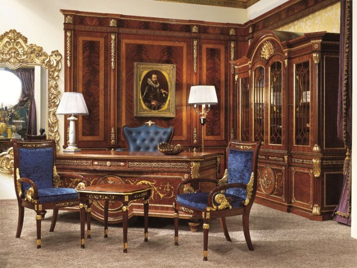 british empire furniture english style study room