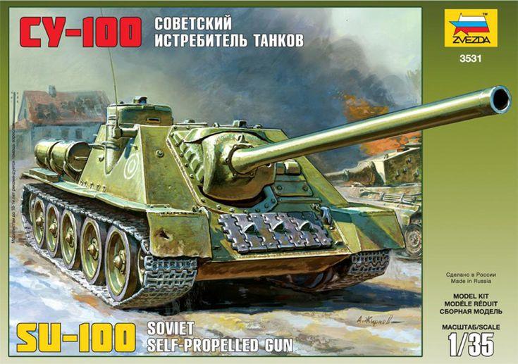 Maquette - Kit Soviet Self-propelled Gun Su-100 - Zvezda 3531