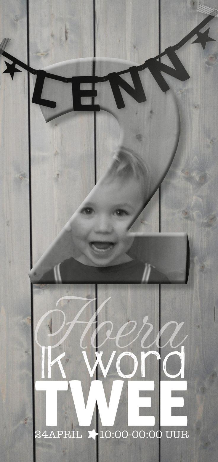 Uitnodiging: HOERA! Lenn 2 jaar! #suededesign