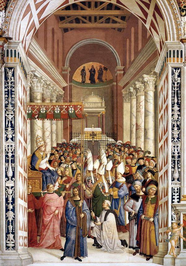 Пикколомини принимает папскую тиару и имя Пий II