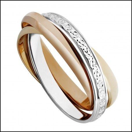 Russian Wedding Ring with Diamonds