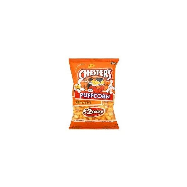 Chester's Puffcorn Cheese Puffed Corn Snacks 5.5 oz ❤ liked on Polyvore featuring food