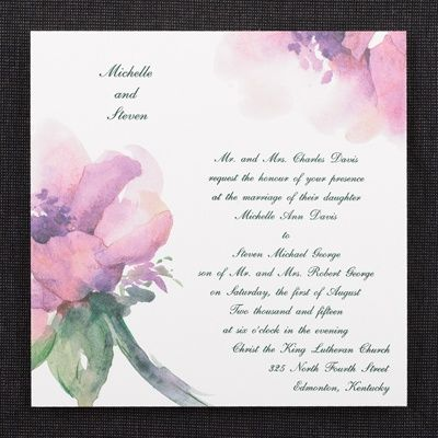 Artistry   Invitation   Spring Water Color By Carlson Craft