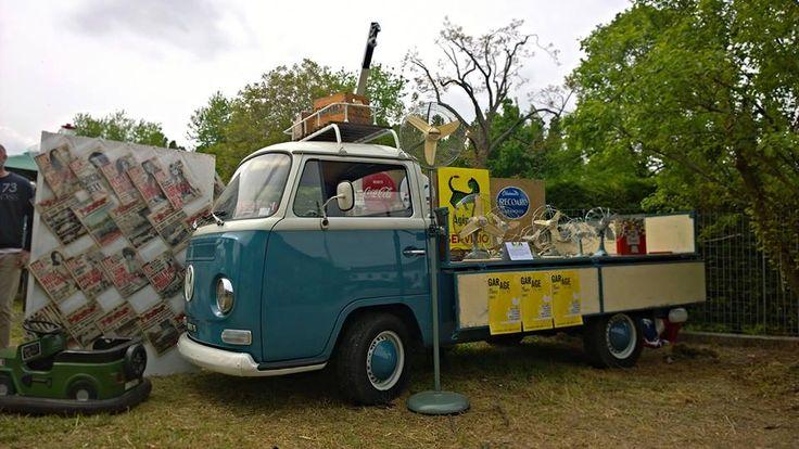 furgoncino Volkswagen, T2, ventilatori, marelli, riviste vintage, insegne, tabelle smaltate