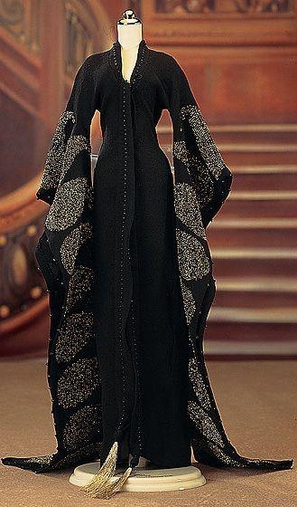 Rose - Black Kimono Dressing Gown Ensemble from Titanic