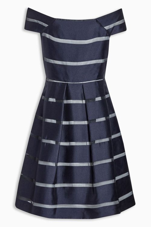 Next Navy Stripe Prom Dress Online | Shop EziBuy