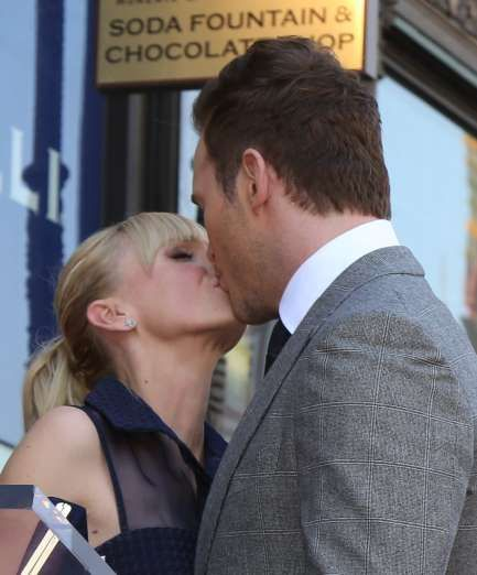 Celebrity PDA of 2017 - December 11, 2017:  Chris Pratt and Anna Faris shared an adorable kiss in Hollywood on April 24.