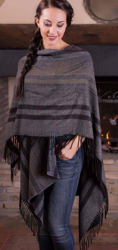 poncho mantella coprispalle cappotto senza maniche made in italy mohair lana