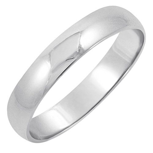 Men S White Gold Clic Fit Plain Wedding Band Available Ring Sizes Tradional Measuring Wide Be Sure To Choose Your