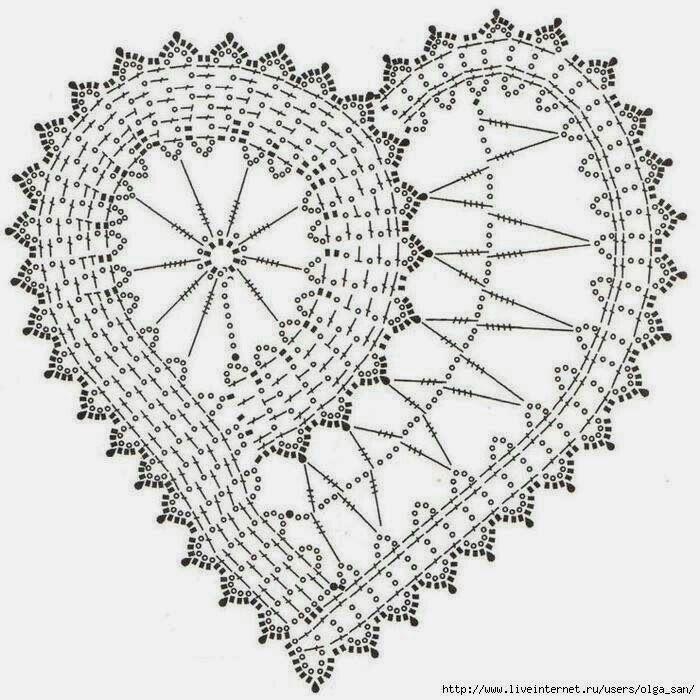 Mejores 143 imágenes de corazones crochet en Pinterest | Corazones ...