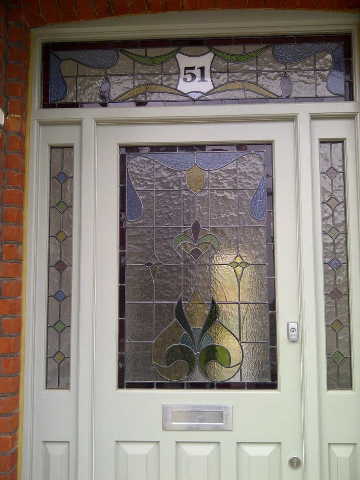 edwardian stained glass front doors - Google Search & The 31 best stained glass front door images on Pinterest | Stained ...