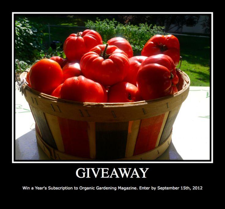 Organic Gardening Magazine Giveaway