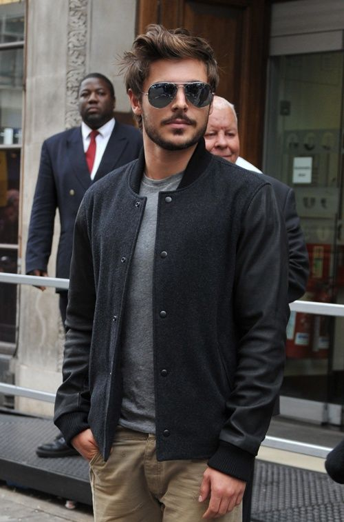 Zac Efron- my god he is hot with facial hair....ok he's hot either way but damn!