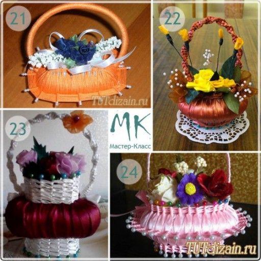 How to make DIY ribbon wrapped soap flower basket   DIY Tag