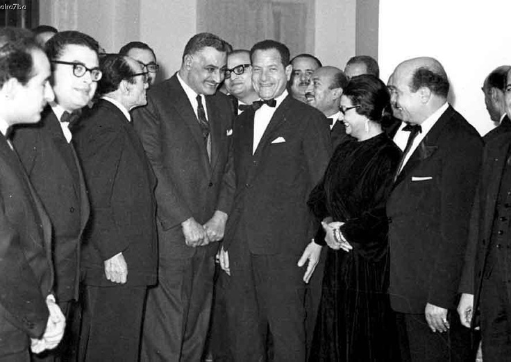 Umm Kalthoum And Her Musical Party And The President Of Egypt Gamal Abdelnasser Egyptian Actress Egyptian History Old Egypt