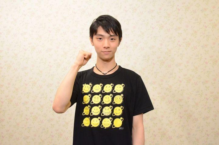 羽生結弦選手:「24時間テレビ」チャリTシャツのマークをデザイン - 写真詳細 - MANTANWEB(まんたんウェブ) - 毎日新聞デジタル