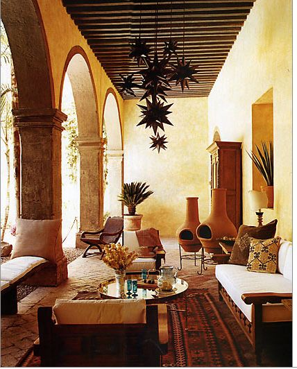 A terrace designed by Casa Midy. San Miguel, Mexico