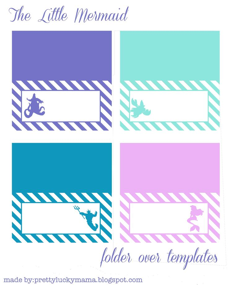 The Little Mermaid Fold Over Templates {free Printables