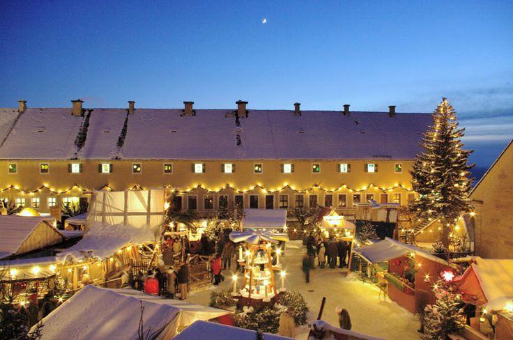"""Karácsonyi vásár: KÖNIGSTEIN - Historisch-romantischer Weihnachtsmarkt """"Königstein – ein Wintermärchen"""" - Festung Königstein"""