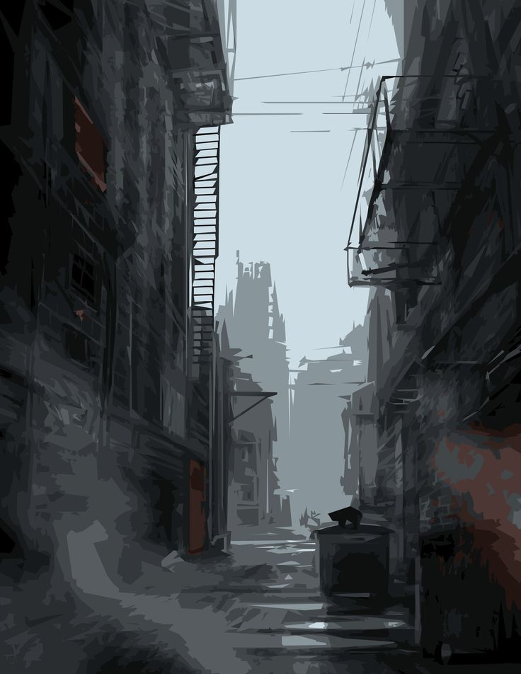 Image result for alleyway Environment concept art