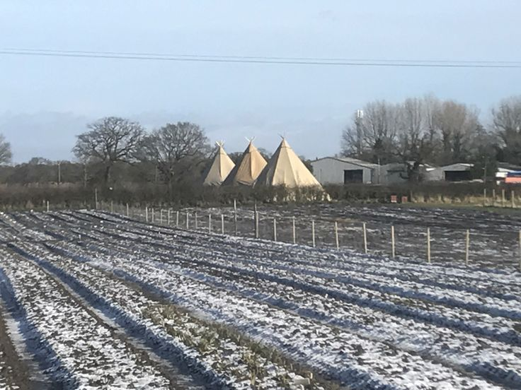 Tipis in the distance...
