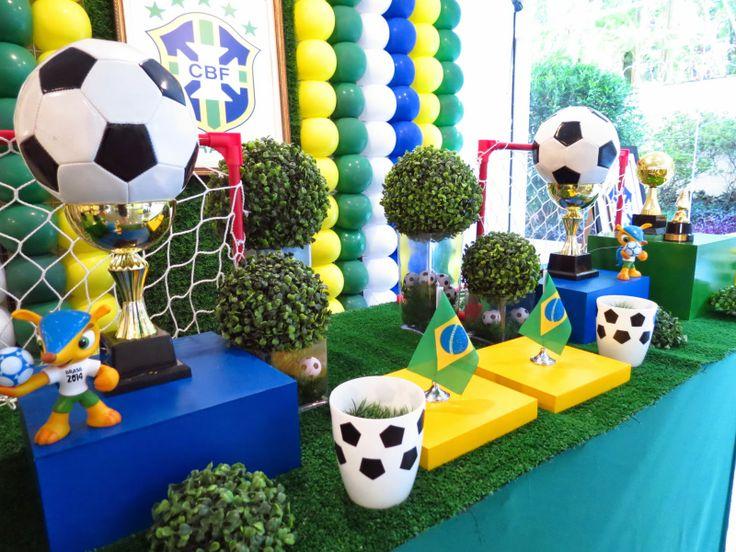 Farolita Decoração de Festas Infantis: COPA BRASIL World Cup Party