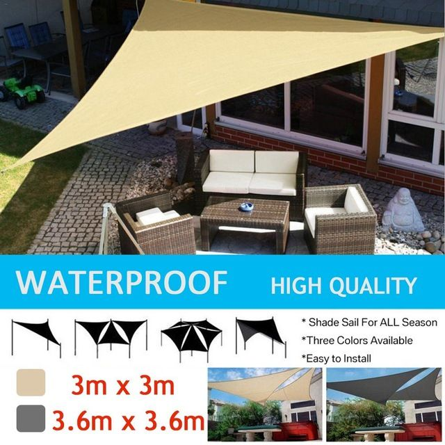 Sun Shelter Sunshade Protection Outdoor Canopy Garden Patio Pool Shade Sail Awning Camping Picnic Tent Review