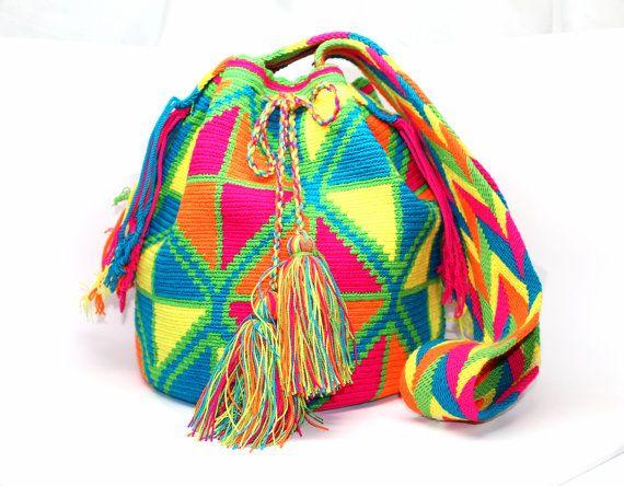 Wayuu Kootolera Mochila Bag by Bluevitasw on Etsy