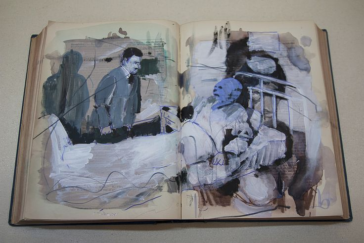 Heal thyself I  Artist: Bartosz Beda, acrylic on leaf book, 42x27x4 cm, 2014 (300dpi)  Artista: Bartosz Beda, acrílico sobre hoja de libro, 42x27x4, 2014  #art #arte #contemporaryartwork #pintura #paint #bac #dibujo #drawing