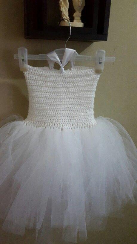 Babies white tutu dress