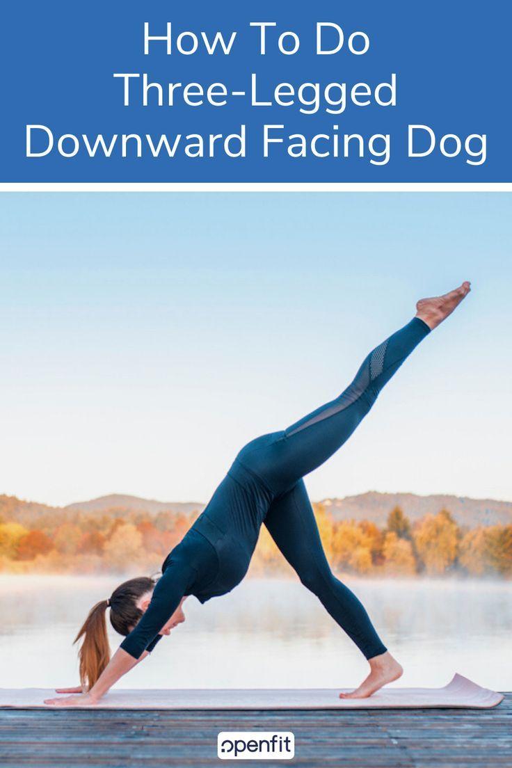 How To Do Three Legged Downward Facing Dog Downward Dog Yoga Pose Downward Dog Yoga Dog Yoga