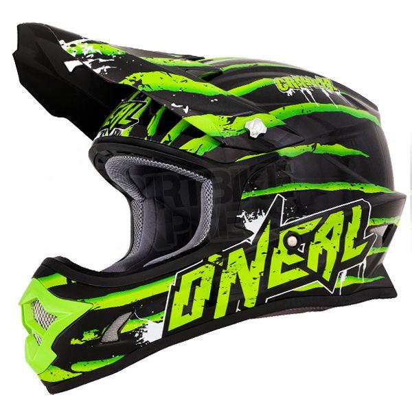 2016 ONeal 3 Series Motocross Helmet - Crawler Black Green